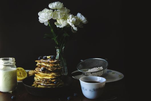 Lemon and Poppy Seed Pancakes