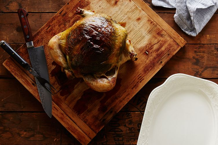 Crispy Roast Chicken (Stuffed Under the Skin with Basil-Garlic Purée)