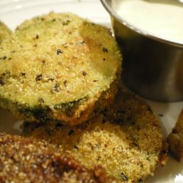 Rosemary Cornmeal Crusted Zucchini with Grapefruit Aioli