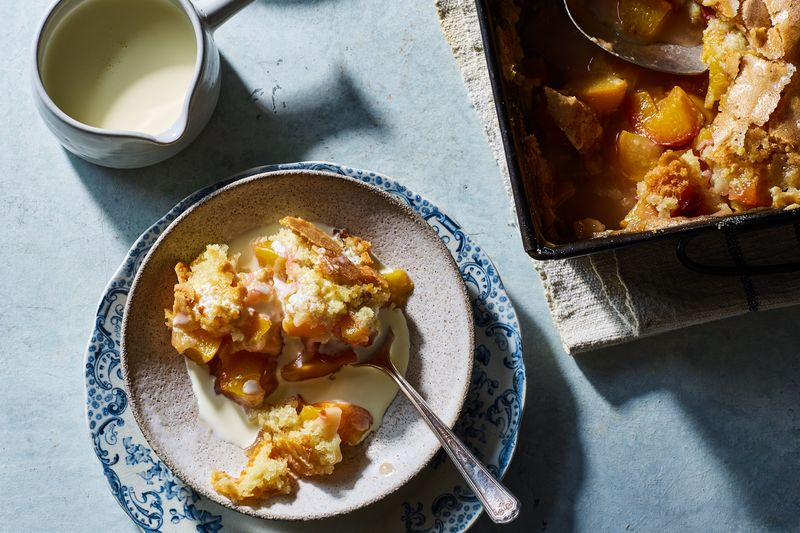Renee Erickson's Peach Cobbler with Hot Sugar Crust