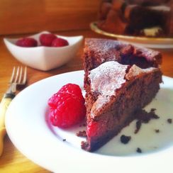 Flourless Chocolate and Raspberry Torte