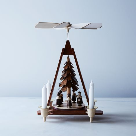 Handcrafted Holiday Pyramid with Carolers & Candles