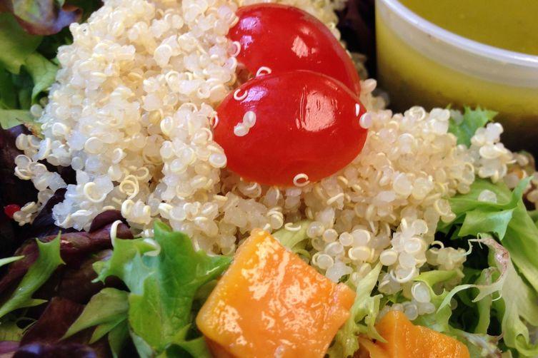 Loaded Quinoa Salad with Lemon Scallion Dressing