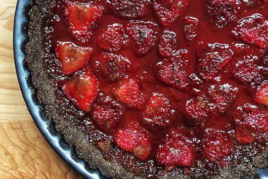 Strawberry Buckwheat Tart