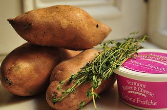 Mashed Sweet Potatoes with Crème Fraîche and Herbs Recipe ...