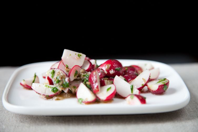 Radish Salad with Anchovy Sauce