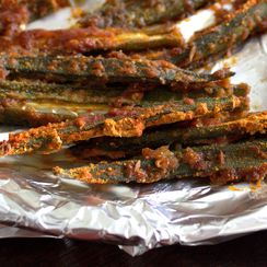 SPICY BAKED OKRA FRIES