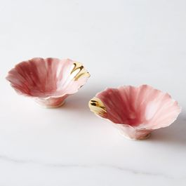 Pink Gold-Dipped Pinch Bowls (Set of 2)