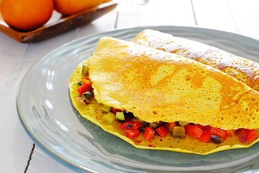 Vegan Roasted Vegetable Omelette