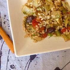 Roasted Fennel and Tomatoes with Barley