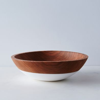 """Hand-Dipped Cherry Wood Bowl (12"""")"""