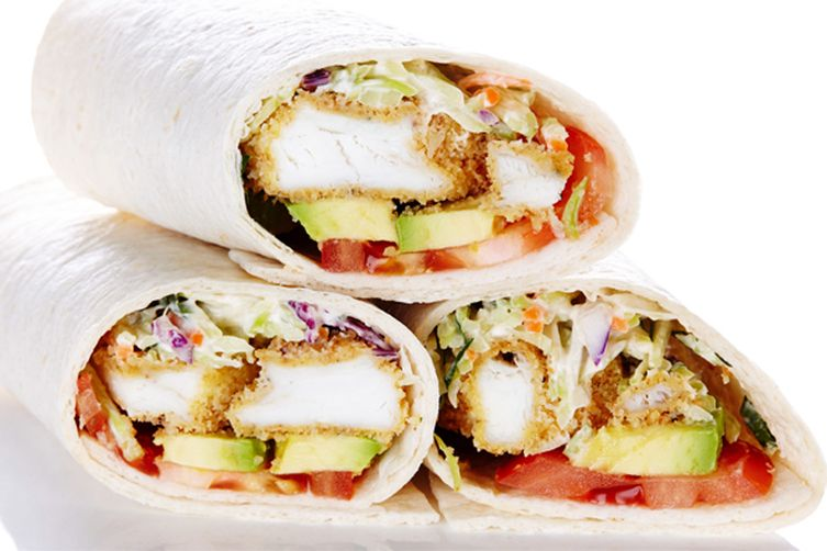 Crunchy Fish and Creamy Coleslaw Wraps