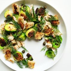 Burnt Brussel Sprout  and Chicken Salad