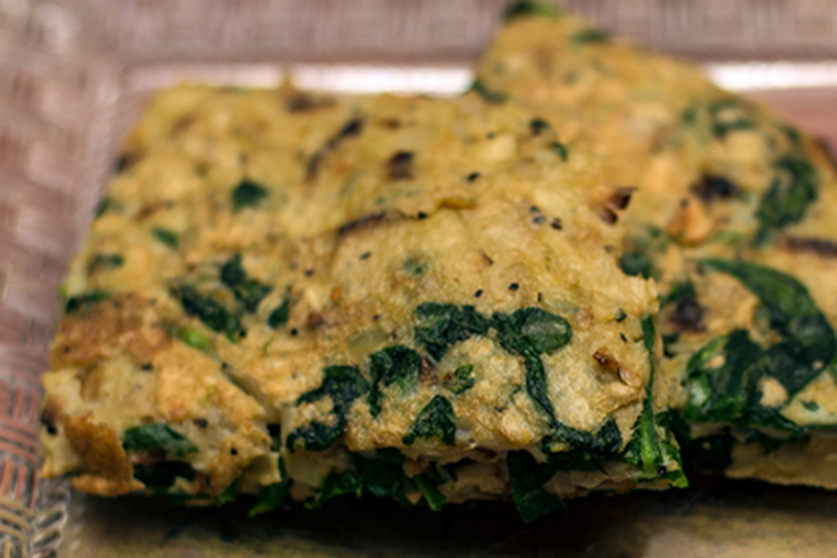 Spinach Matzo Brie