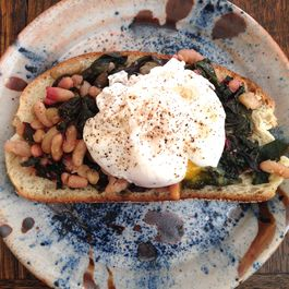 Savory White Beans with Chard on Toast