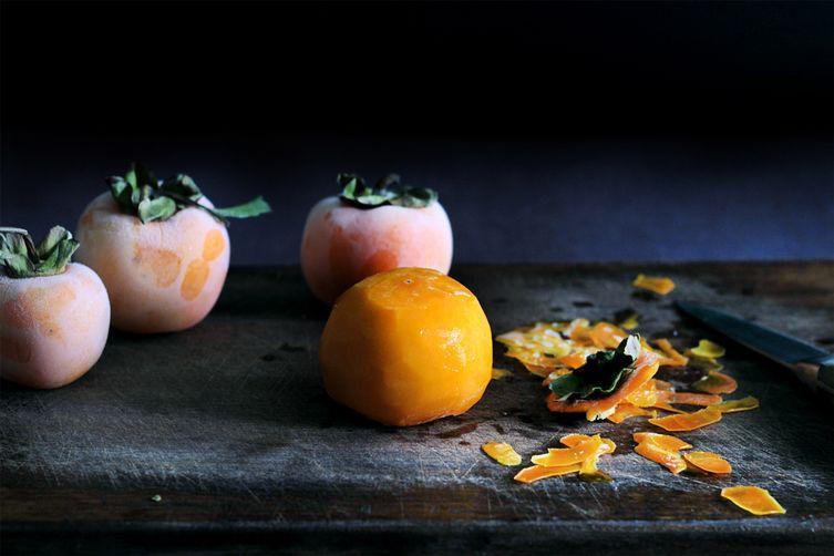 Instant persimmon sorbet