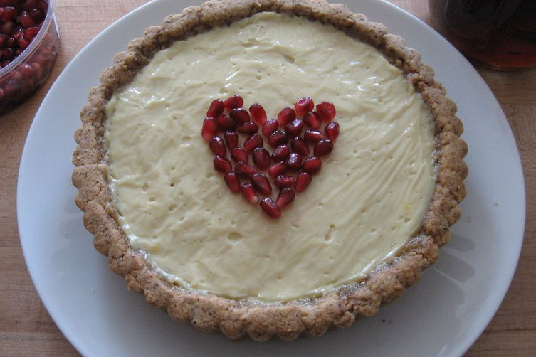 Maple Hazelnut Tart w/Pomegranate Syrup