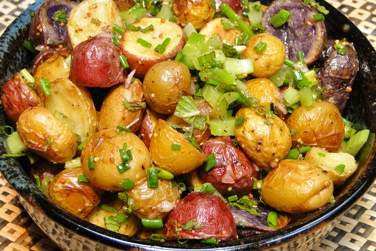 Roasted potato salad with herbs Recipe on Food52