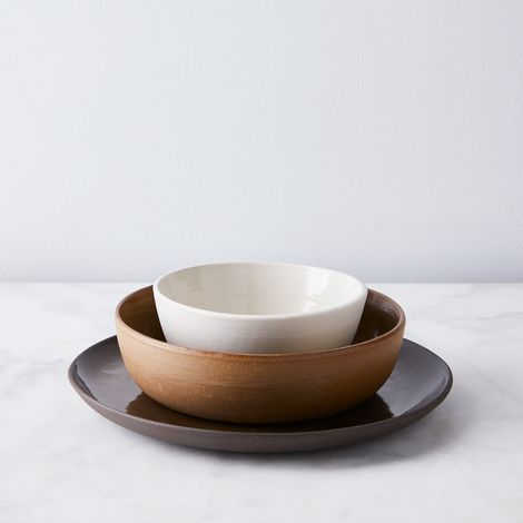 Helen Levi Handmade Mixed Earth Dinnerware (3-Piece Set)