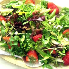 Strawberry Salad with Grapefruit Shallot Vinaigrette