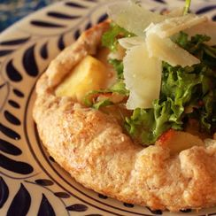 Parsnip Galette Piled High with Late Winter Greens