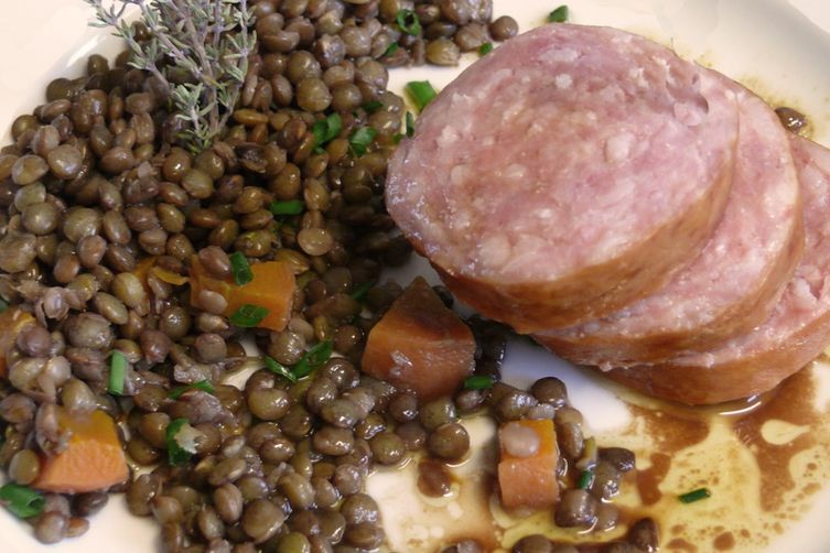 Tuscan Lentils with Sausage