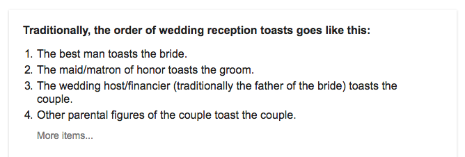 Step 5 Google How To Make A Wedding Toast