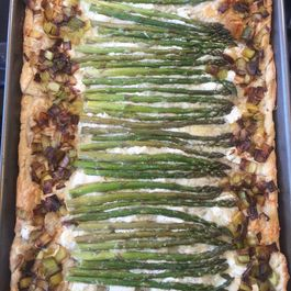 Asparagus and Leek Puff Pastry Tart