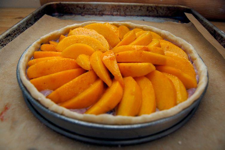 Mid-Summer Peach Tart with Blackberry Custard
