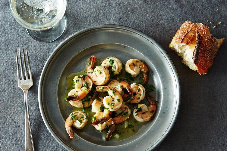 Sautéed Shrimp with Lemon, Garlic, and Parsley