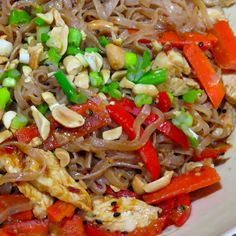 Brown Rice Noodles with Spicy Peanut Sauce