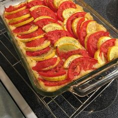 Baked Polenta with Squash and Tomato