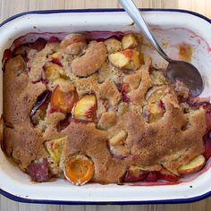 Peach, Plum and Apricot Cobbler