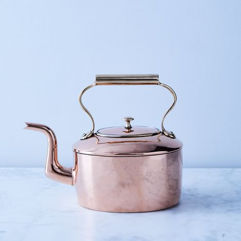 Vintage Copper English Large Oval Kettle, Mid 19th Century