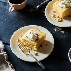 Revani (Chamomile-Soaked Semolina Cake)