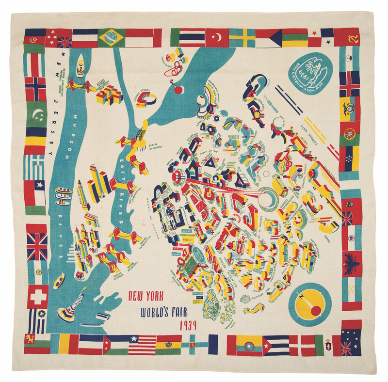 Marguerita Mergentime, New York World's Fair tablecloth, 1939. Michael Fredericks, © Mergentime Family Archives