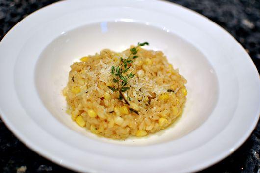 Truffled Sweet Corn Risotto