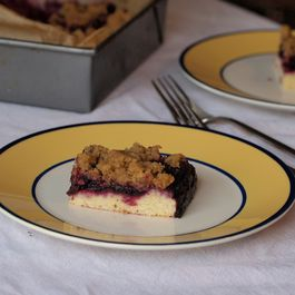 Blueberry cornmeal brown butter crumb bars (whew, what a mouthful)
