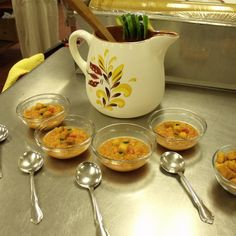 Corn Gazpacho with Fiery Croutons