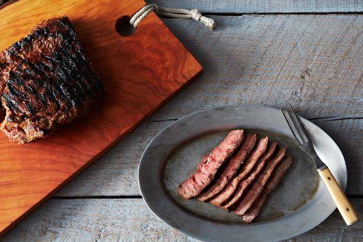 Miso Marinated Flat Iron Steak with Yuzu Kosho