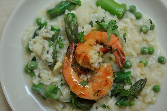 Preserved Lemon and Spring Vegetable Risotto