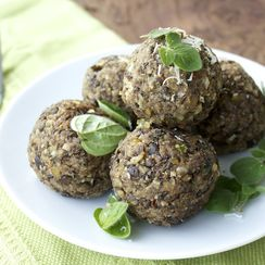 Lentil and Eggplant Vegetarian Meatballs