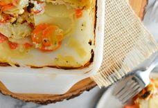 Potato, Carrot & Cheese Gratin
