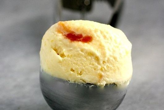 Roasted Pineapple Ice Cream with Caramel