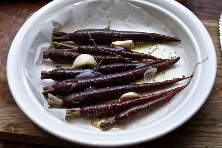 Roasted Purple Carrots & Dukkah