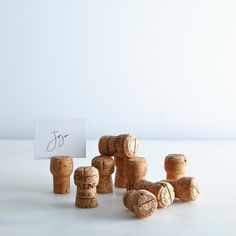Champagne Cork Placecard Holders (Set of 10)
