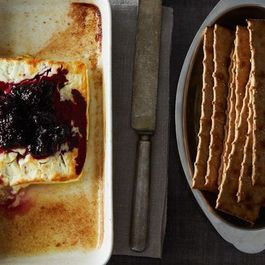 Baked Feta with Rosemary Blackberry Compote