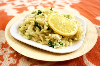 B52d5b95 d1d4 43c9 a459 4e6166501bcd  orzo risotto with spring ramps lemon zest goat cheese