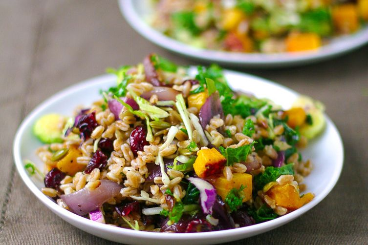 Farro Salad with Butternut Squash, Caramelized Onions, & Brown Butter ...