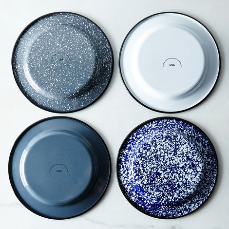 Porcelain Enamelware Plates (Sets of 4)